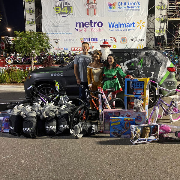 RHINO Team Orlando's Toy Drive