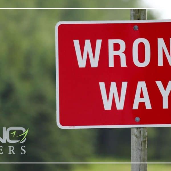 choques por el camino equivocado