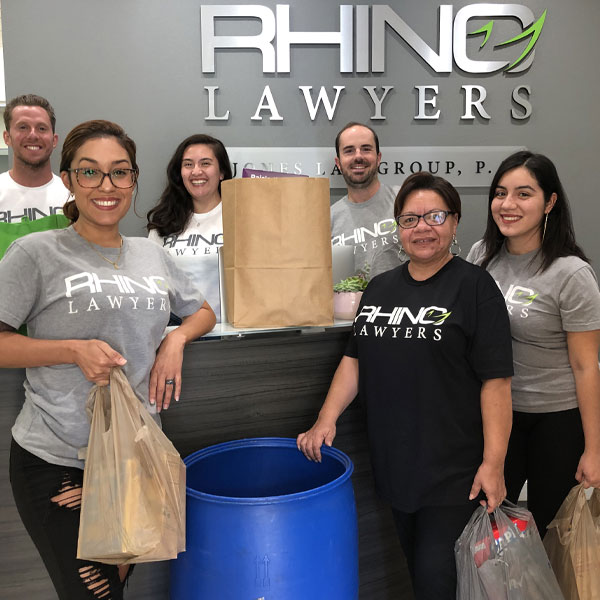 RHINO Team collecting donations