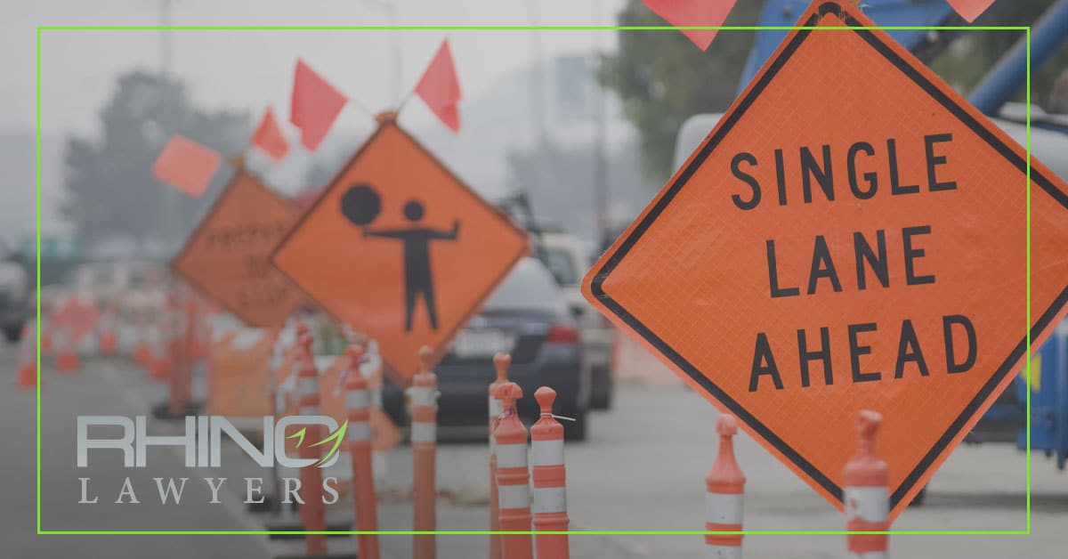 Driving in a construction zone