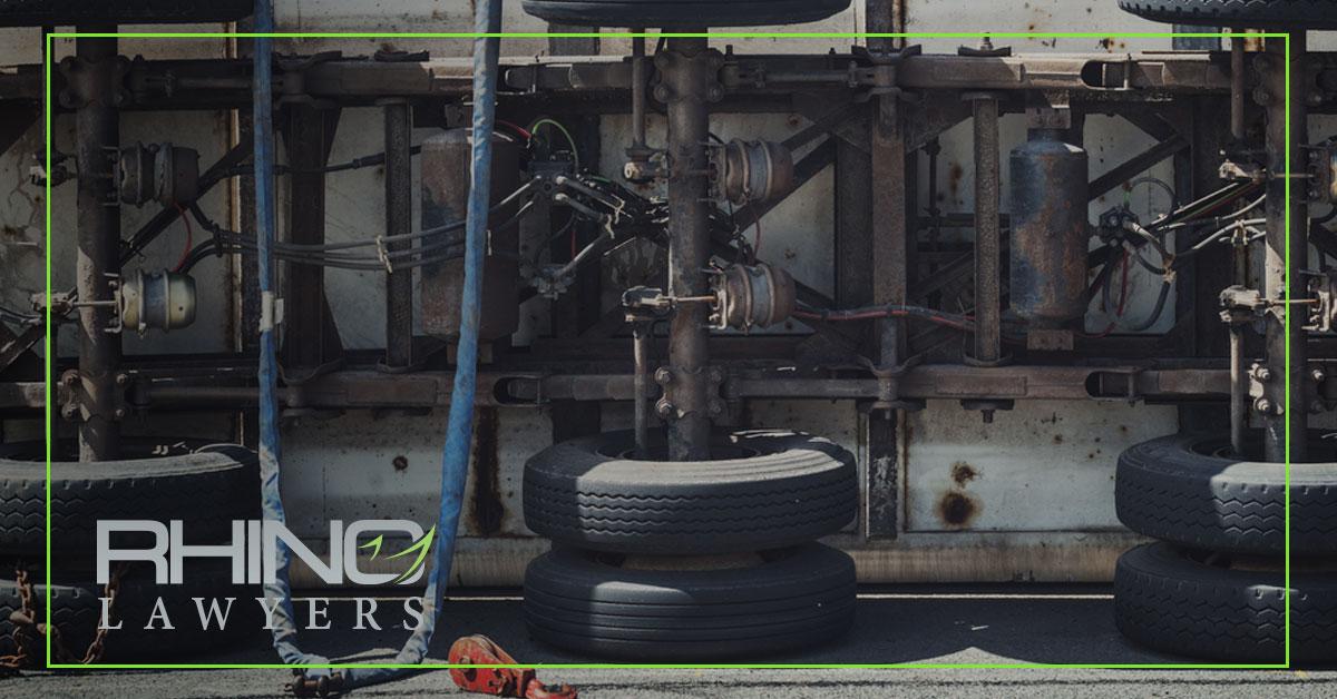 Reckless Driver Overturns Trailer