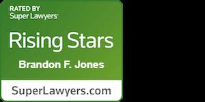 Insignia de SuperLawyers Rising Stars de Brandon F. Jones